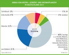 Anbau von Arznei-, Gewürz- und Aromapflanzen in Deutschland 2011