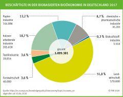 Beschäftigte in der biobasierten Bioökonomie in Deutschland 2017