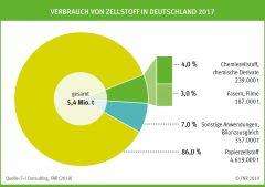 Verbrauch von Zellstoff in Deutschland 2017