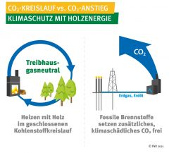 CO2-Kreislauf vs. CO2-Anstieg - Klimaschutz mit Holzenergie