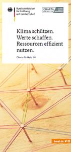 Flyer Charta für Holz 2.0