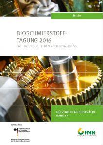 Band 54: Bioschmierstoff-Tagung 2016