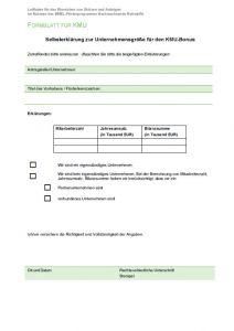 Formblatt für KMU