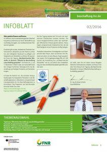Infoblatt Nachwachsende Rohstoffe im Einkauf 2/2016