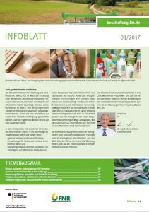 Infoblatt Nachwachsende Rohstoffe im Einkauf  1/2017